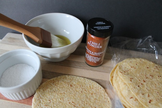 I used the combo corn/flour tortillas. They create a perfect texture when baked.