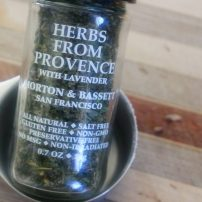 An herb mix that contains: savory, marjoram, rosemary, thyme, oregano and lavender.